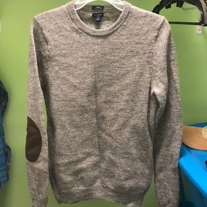 JCrew men's merino wool sweater with elbow accents